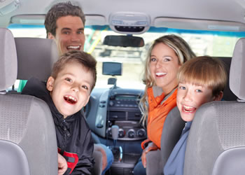 Family in Van - Auto Insurance